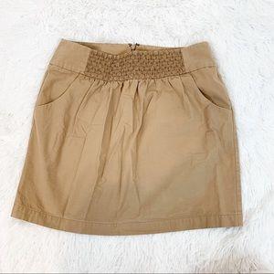 Gianni bini women 0 chino mini skirt smocked front